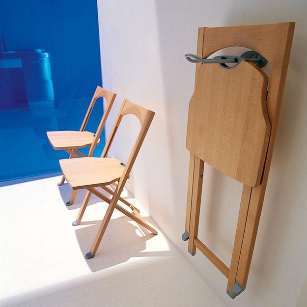 Calligaris olivia folding chair- cherry
