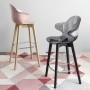Calligaris Saint Tropez Bar Stool Wood Legs