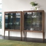 Porada Atlante Glass Storage Cupboard