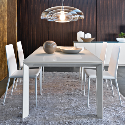 calligaris omnia glass table