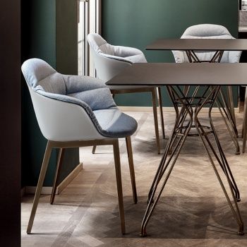 Bontempi Casa Mood Upholstered Chair With Arms
