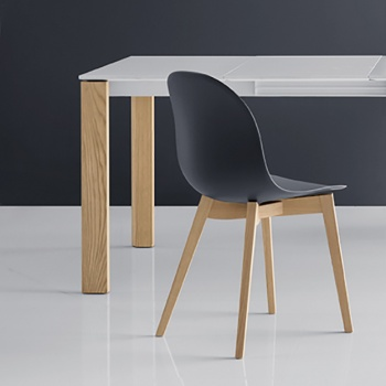 Connubia Calligaris Academy Chair Wood Legs, Set of 6 - In Stock