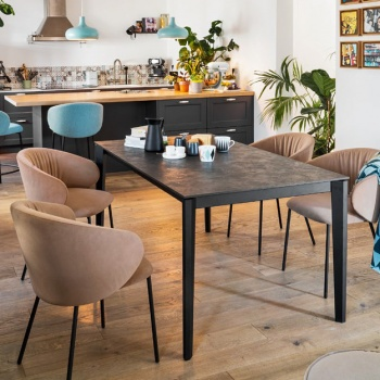 Connubia Calligaris Pentagon Wood Table
