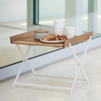 Magnificent Cane Line Rail Folding Side Table Ncnpc Chair Design For Home Ncnpcorg