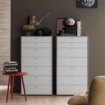 Linear With Handles Tall Chest of Drawers