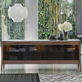 Porada Atlante Glass Sideboard
