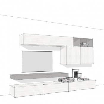 Linear Wall System Composition 004