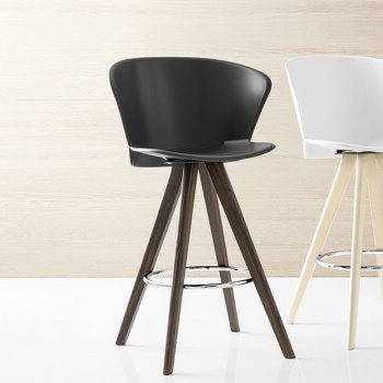 Calligaris Bahia Bar Stool Wood Legs