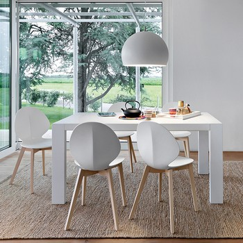 Calligaris Basil Chair Wood Legs