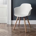 Bontempi Casa Mood Chair Wood Legs With Arms