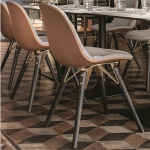 Bontempi Casa Mood Upholstered Chair Wood Legs