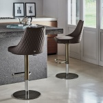 Bontempi Casa Clara Quilted Gaslift Bar Stool