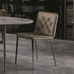 Bontempi Casa Kate Chair Metal Legs With Cushion