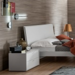 Linear With Handles Bedside Table