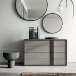 Linear Stripe Chest of Drawers