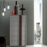 Linear Stripe Tall Chest of Drawers