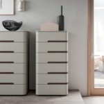 Curved Tall Chest of Drawers