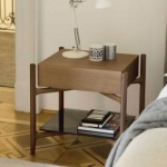 Porada Regent Wood Bedside Table
