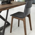 Bontempi Casa Alfa Chair Wood Legs