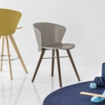Calligaris Bahia Chair Wood Legs