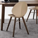 Calligaris Basil Cross Chair Wood Legs