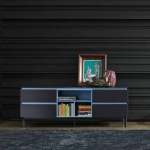 Bontempi Casa Cosmopolitan Medium Glass Sideboard