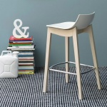 Connubia Calligaris Led Bar Stool Wood Legs