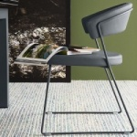 Calligaris New York Chair Sleigh Legs