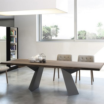 Bontempi Casa Fiandre Wood Table
