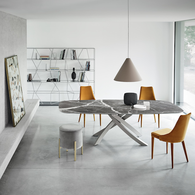 contemporary dining table bontempi casa artistico table 31378