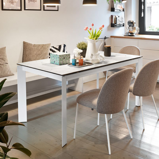 Calligaris baron ceramic extendable table for Calligaris baron