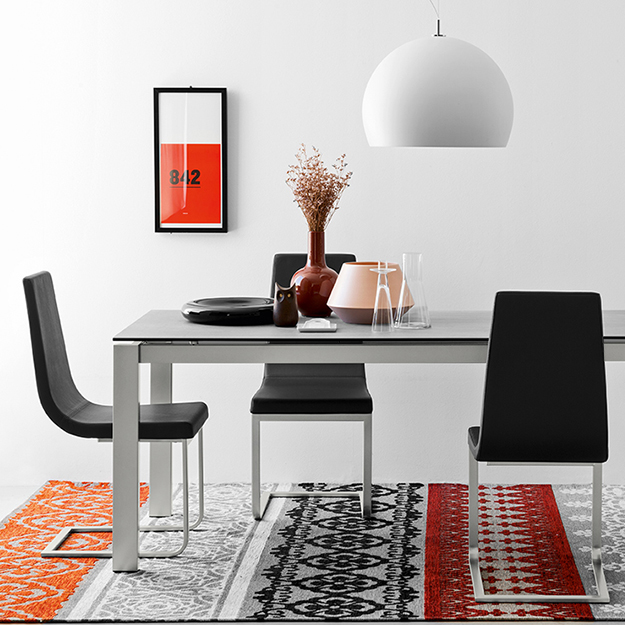 Connubia calligaris baron ceramic fixed table for Calligaris baron