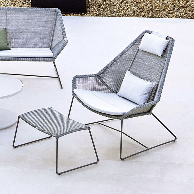 Cane line breeze highback lounge chair