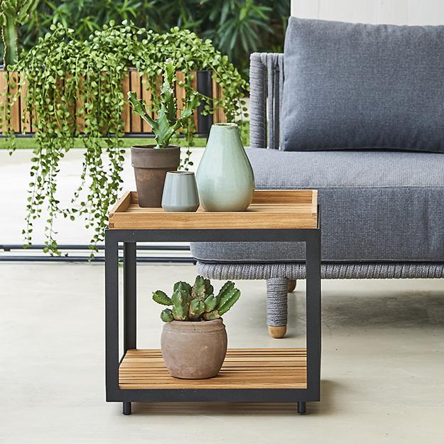 Teak Garden Coffee Table Uk: Cane-line Level Teak Side Table