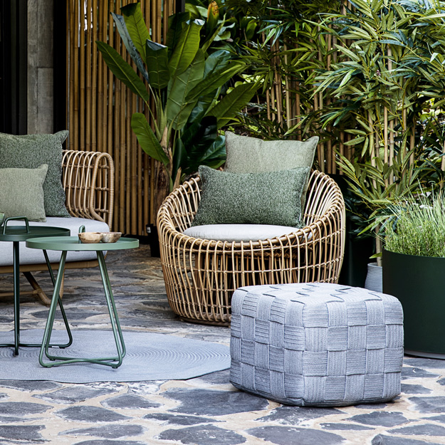 Cane Line Nest Round Chair, Large Round Cushions For Outdoor Furniture