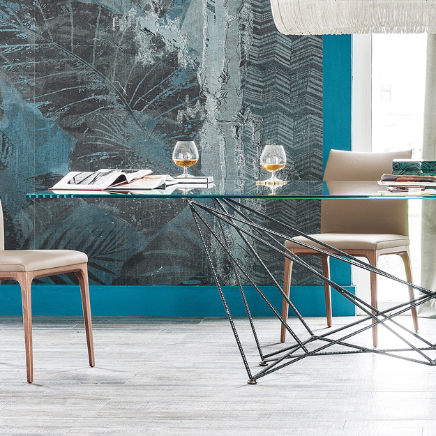 Cattelan italia gordon table for Glass tavoli cristallo