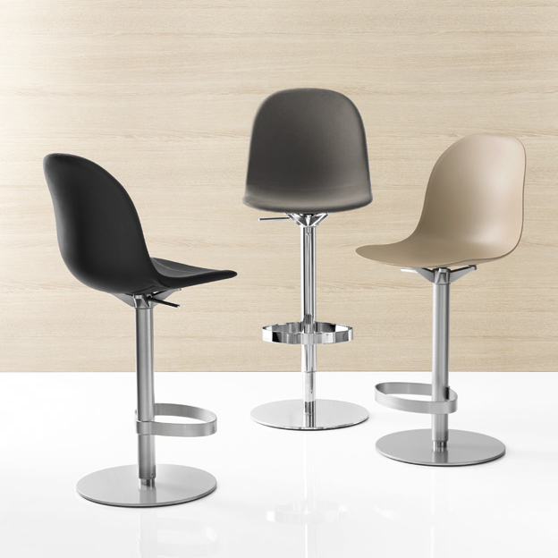 Connubia Calligaris Academy Gaslift Bar Stool