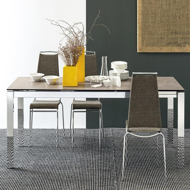 Calligaris baron ceramic extendable table for Calligaris baron