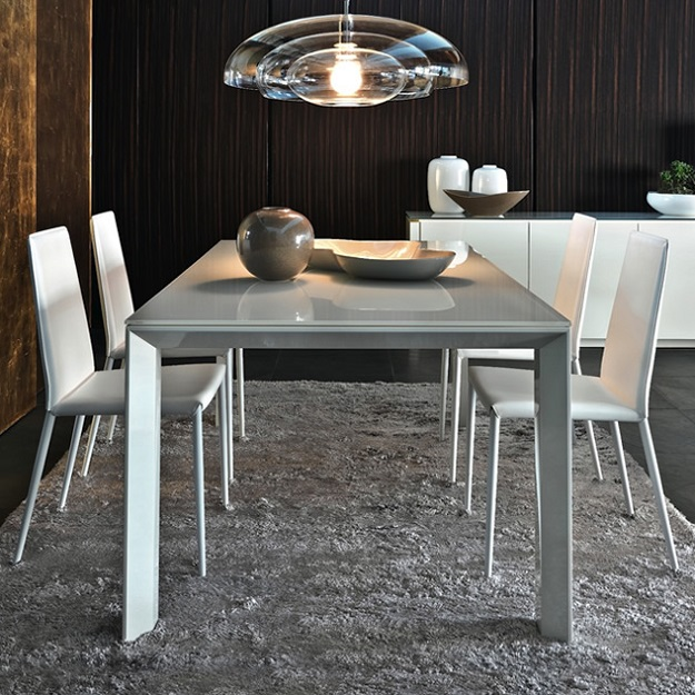Calligaris omnia glass extendable table for Calligaris omnia glass