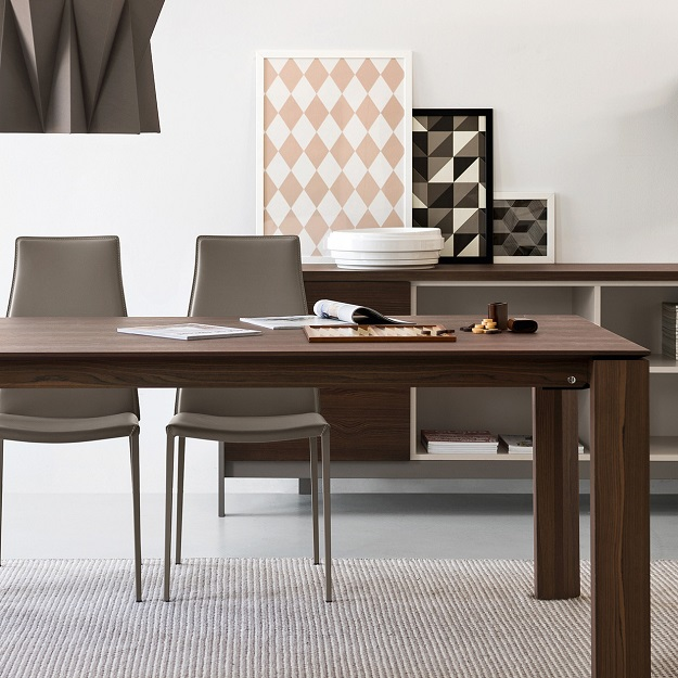 Calligaris omnia wood extendable table - Calligaris balances ...