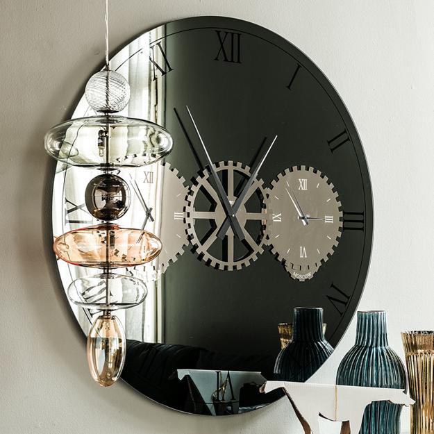 Cattelan italia times mirror and clock for Moschella arredamenti roma