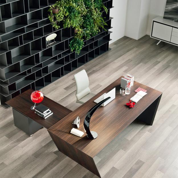 Cattelan italia vega peninsula desk for Office design italia srl