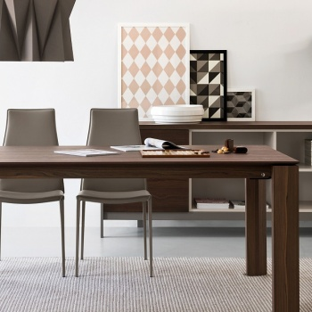 Calligaris omnia wood extendable table for Calligaris omnia glass