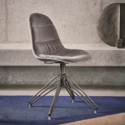 Bontempi Casa Mood Upholstered Spider Leg Chair