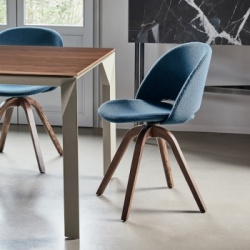 Bontempi Casa Polo Chair Wood Legs