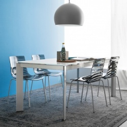 Calligaris Baron Glass Extendable Table