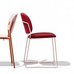 Connubia Calligaris Yo! Fabric Chair Sleigh Legs