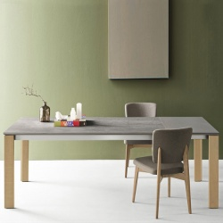 Connubia Calligaris Eminence Table Natural Oak Legs - In Stock