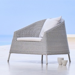 Ex-Display Cane-line Kingston Lounge Chair and Stool