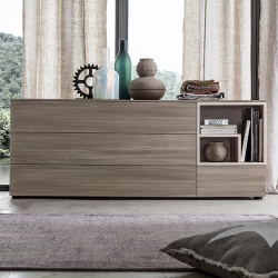 Symmetry Chest of Drawers With Open Storage